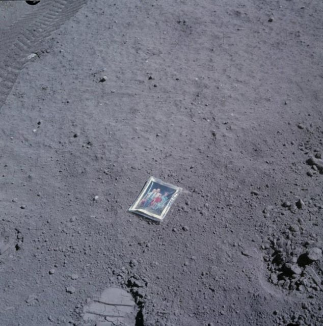 Family photo on the moon