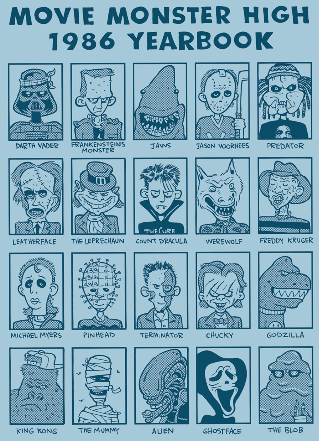 Movie Monster High 1986 Yearbook by Greg DiGenti