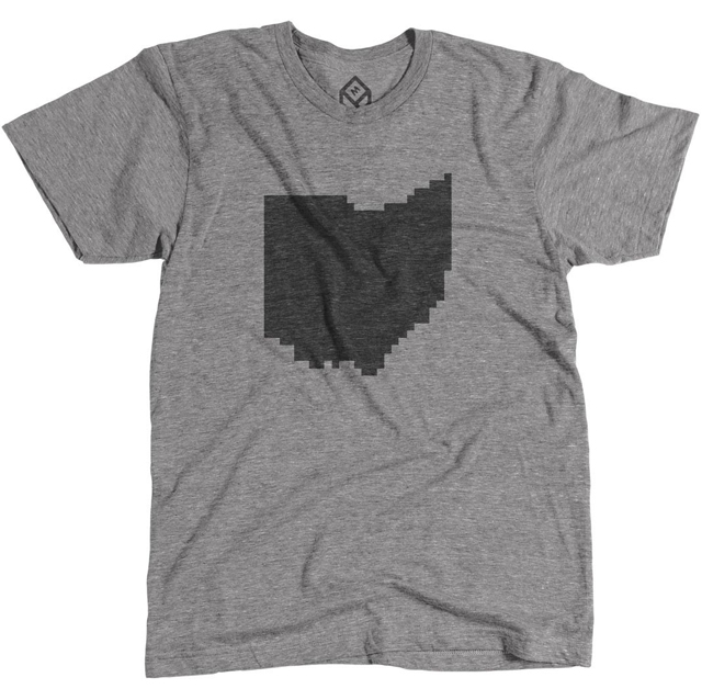 Pixelated Ohio State Shirt by Pixelivery