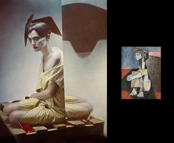Pablo Picasso inspired fashion photos