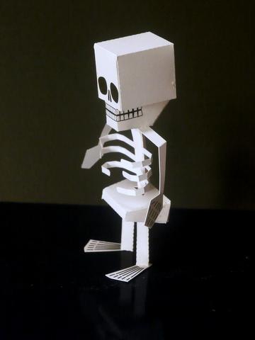 Halloween special – Papercraft Skeleton by Digitprop