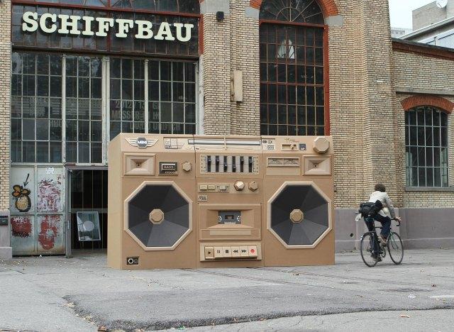 Ghettoblaster giant cardboard boom box by Bartek Elsner