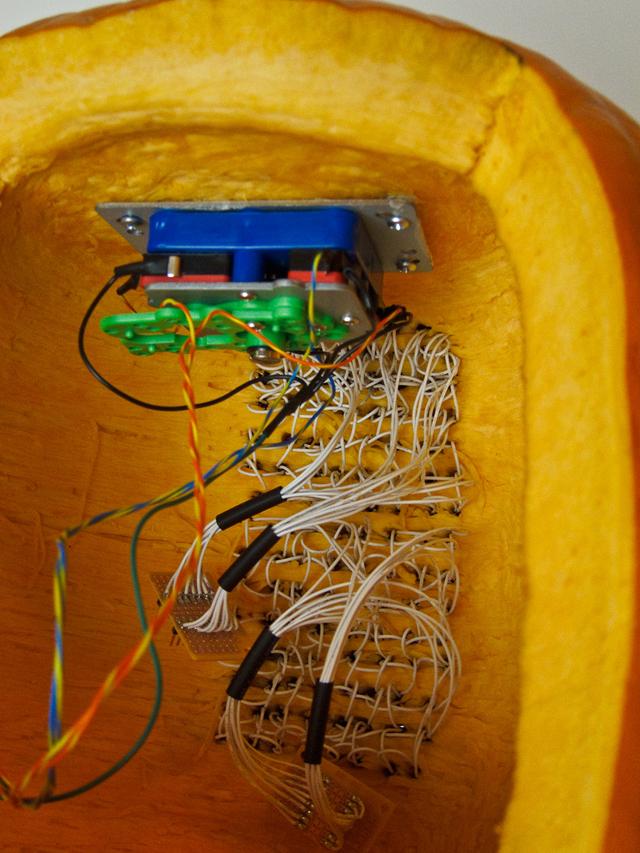 Pumpktris - Installed LEDs - by Nathan Pryor / HaHa Bird