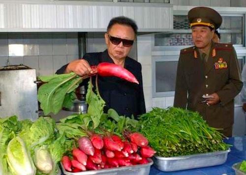 Kim Jong-il Looking At Things