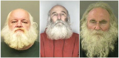 Mug Shots of Santa Claus