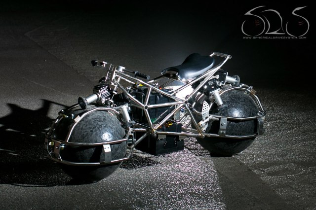 Spherical drive system motorcycle concept