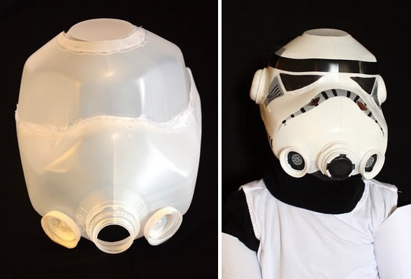 How To Make A Stormtrooper Helmet From Milk Jugs