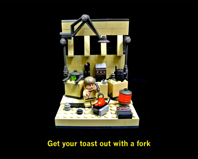 Get your toast out with a fork