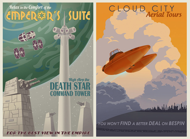 Star Wars Travel Posters by Steve Thomas