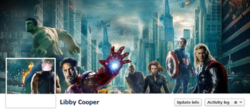 Avengers Facebook Cover by Libby Cooper