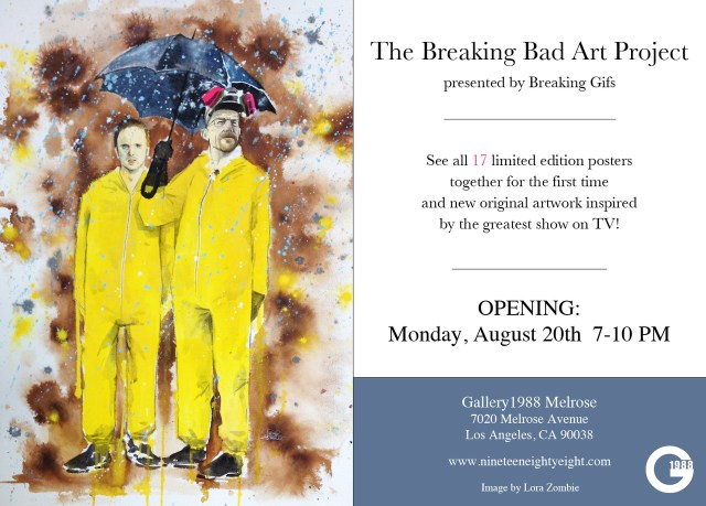 Breaking Bad Art Project by Breaking Gifs at Gallery1988