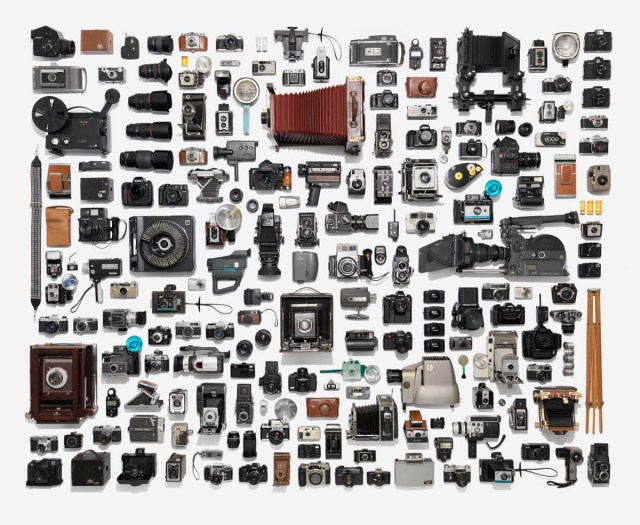Neatly arranged photographic equipment