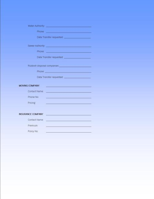PURCHASERS WORKSHEET