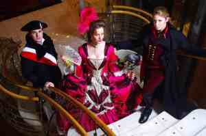 Mark, Alena, and Laura as characters from The Scarlet Pimpernel