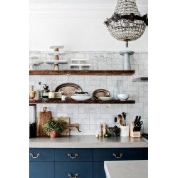 Small Crop Of Blue And White Kitchen
