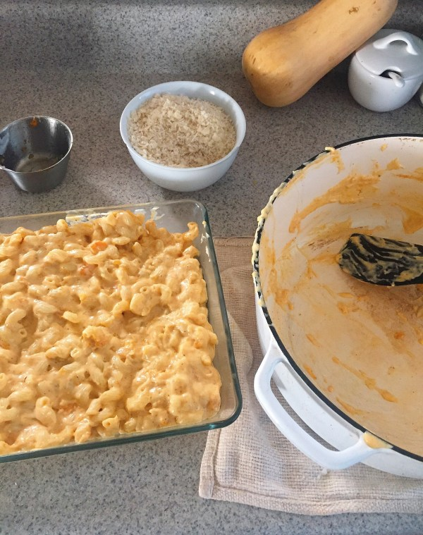 Thanksgiving side: Butternut Squash and Three Cheese Mac and Cheese. / laurenariza.com
