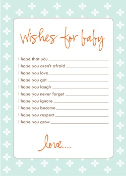 Indulging Dad Baby Shower Wishes On Card Wish Cards Wish Cards Weblog Baby Shower Wishes