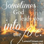 {Lessons Learned} Sometimes God Leads You Into the Fire