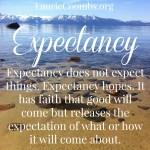 Expectation v. Expectancy