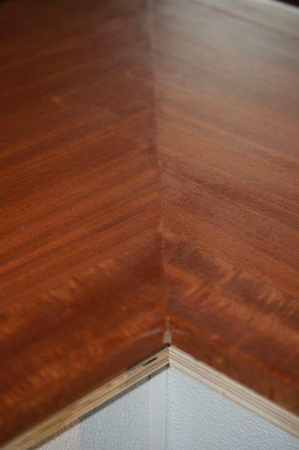 Bar top, inside corner before drink ledge added.