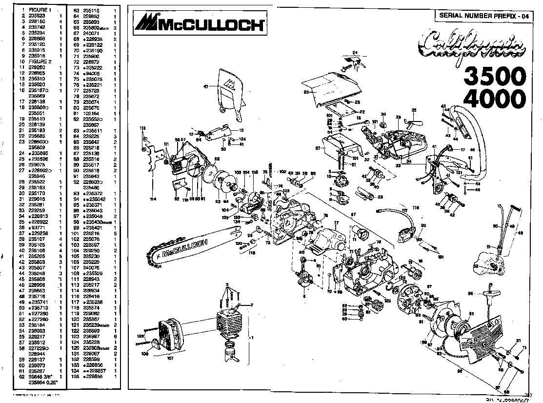 Fullsize Of Mcculloch Chainsaw Parts
