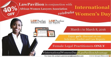 LawPavilion Celebrates International Women's Day 2016