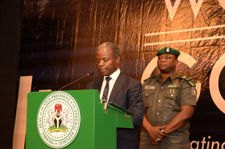Vice President, Prof Yemi Osinbajo giving his Keynote Speech at Words in Gold Event - LawPavilion