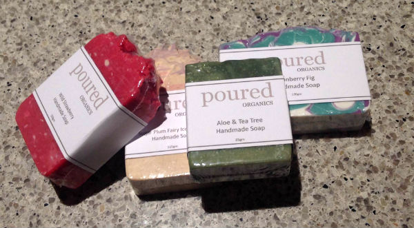 Some beautiful soaps from Poured Organics