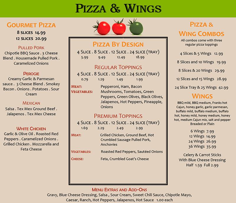 lazy lizard pizza wings
