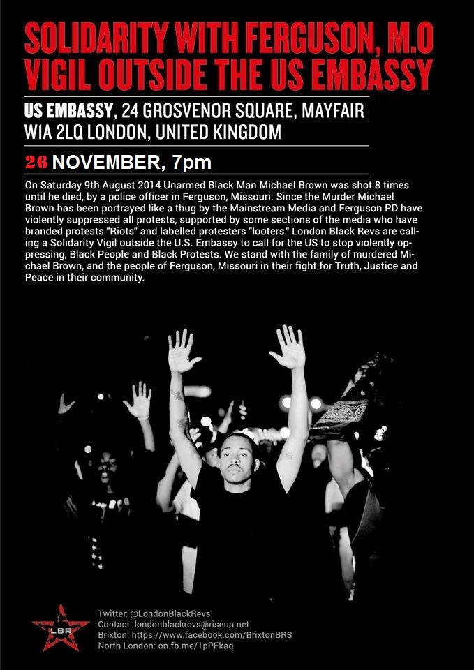 London Solidarity with Ferguson – Justice for Mike Brown