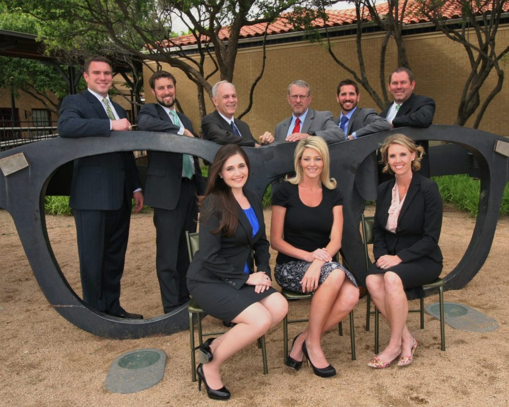 The Lubbock Criminal Defense Lawyers Association recently inducted new officers and directors for 2016-2017. Seated (left-to-right) are Director Allison Clayton, President Taly Jacobs and Vice-President for Education Sara Johnson. Standing (left-to-right) are Past-President Frank Sellers, President-Elect Justin Kiechler, Director Dick Baker, Vice-President for Court Liaison Philip Wischkaemper, Director Michael King and Secretary Rusty Gunter. Not pictured is Treasurer Marlise Hernandez.