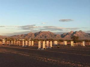 The arena always looks nice as the evening sun sets on the show. Beautiful Organ Mountains in the distance.