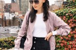 how to wear a pink bomber jacket