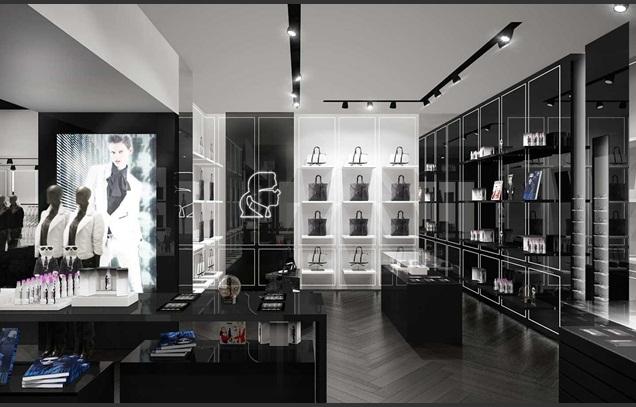 first look karl lagerfeld 39 s london flagship ldnfashion. Black Bedroom Furniture Sets. Home Design Ideas