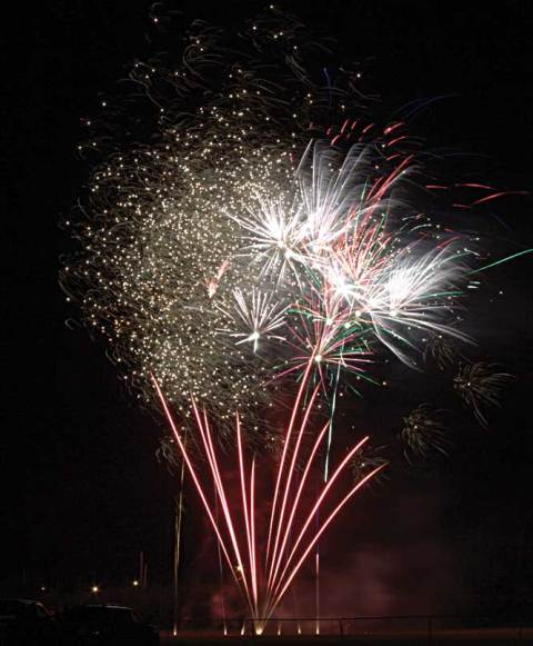 Craik's long weekend festivities included a fireworks show, delayed to Saturday night.