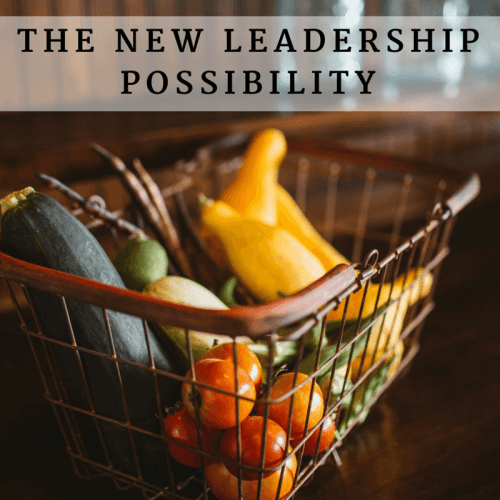 The new leadership possibility