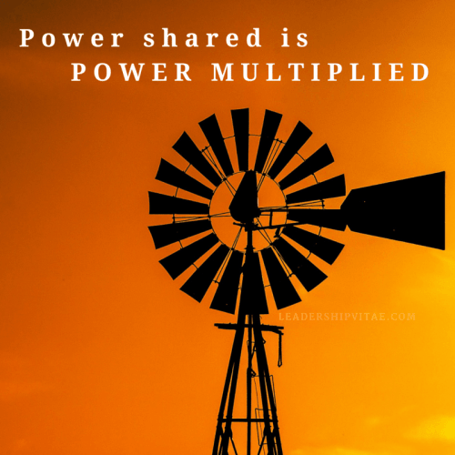 Power shared is power multiplied