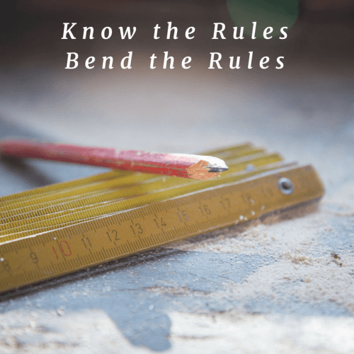 You need to know the rules so you can effectively bend them to meet the changing needs of your environment.