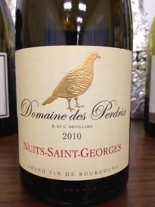Domaine des Perdrix Nuits-Saint-Georges 2010