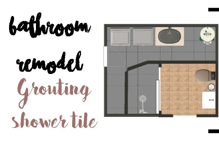DIY grout tile shower