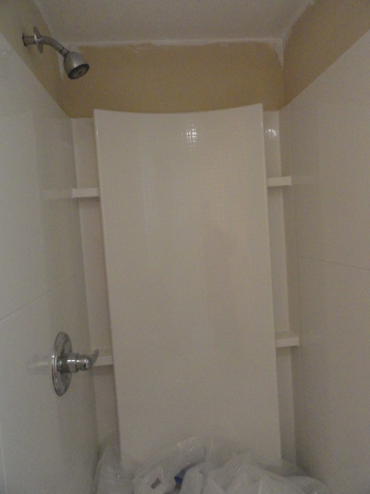 Guest Bathroom From Popcorn To Knockdown Leah And Joe Home DIY Projects