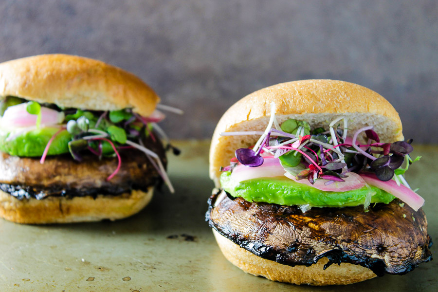 Portobello Mushroom Burgers Recipe — Dishmaps
