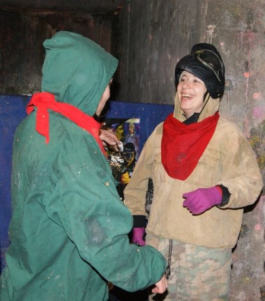 February 19, 2011. Playing paintball.