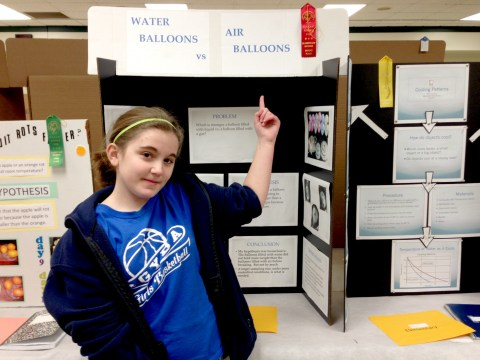 Carmen's science project got 2nd place at the fair!