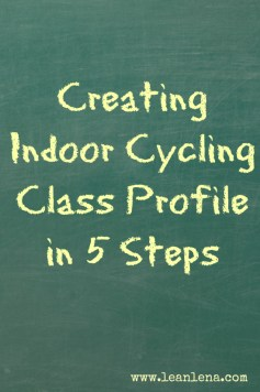 creating indoor cycling class profile