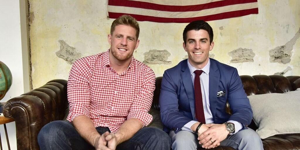 Mr. Lavelle (R) with spokesman and NFL player JJ Watt|Photo: Mizzen+Main
