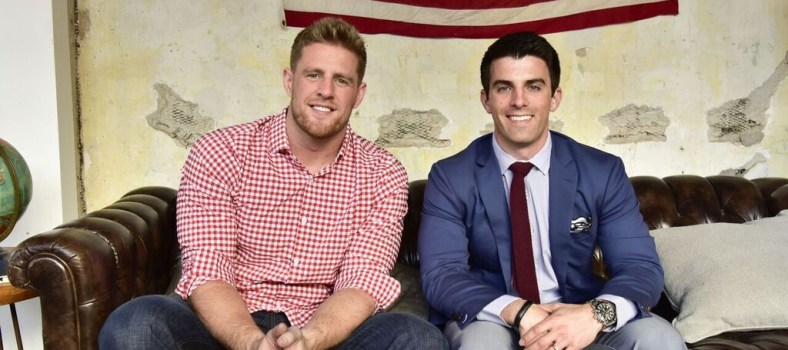 Mr. Lavelle (R) with spokesman and NFL player JJ Watt | Photo: Mizzen+Main