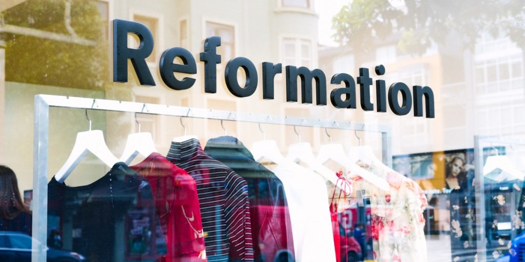 Reformation's new SF showroom is a mix between Tesla and Bonobos | Reformation