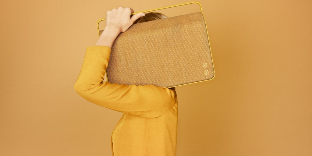 Vifa's minimalistwireless speaker comes in Swedish yellow  Vifa