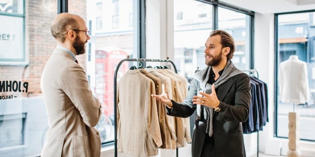Patrick Johnson of Sydney-based P. Johnson Tailors on the right| Permanent Style